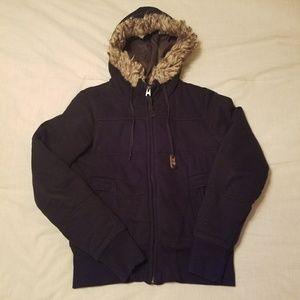 American Eagle black bomber jacket small
